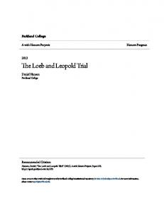 The Loeb and Leopold Trial