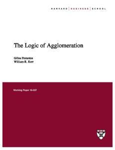 The Logic of Agglomeration