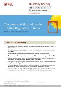 The Long and Short of Insider Trading Regulation in India