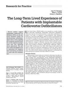 The Long-Term Lived Experience of Patients with Implantable Cardioverter Defibrillators