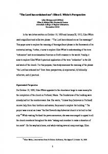 The Lord has ordained me : Ellen G. White s Perspective