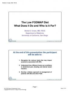 The Low FODMAP Diet What Does it Do and Who is it For?