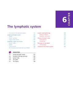 The lymphatic system CHAPTER