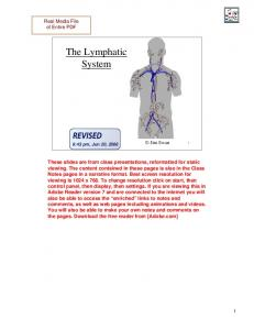 The Lymphatic System. Jim Swan