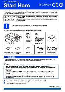 the machine and check the components Introductory Ink Cartridges