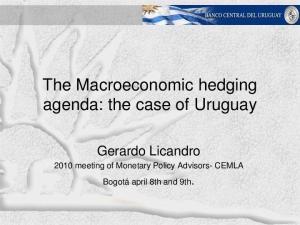 The Macroeconomic hedging agenda: the case of Uruguay