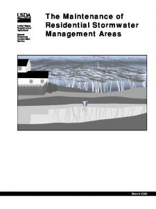 The Maintenance of Residential Stormwater Management Areas