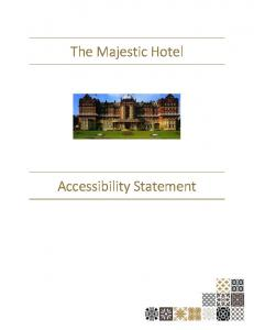 The Majestic Hotel. Accessibility Statement