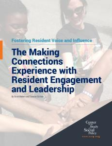 The Making Connections Experience with Resident Engagement and Leadership