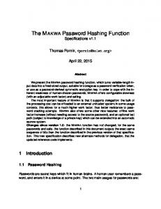 The MAKWA Password Hashing Function Specifications v1.1