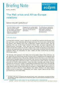The Mali crisis and Africa-Europe relations