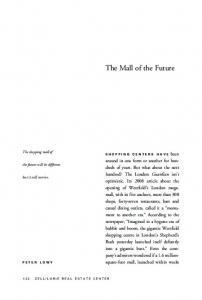 The Mall of the Future