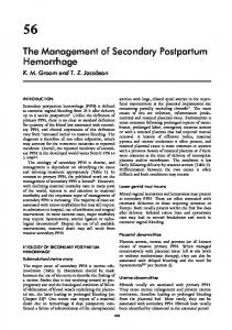 The Management of Secondary Postpartum Hemorrhage