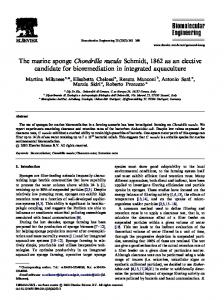 The marine sponge Chondrilla nucula Schmidt, 1862 as an elective candidate for bioremediation in integrated aquaculture