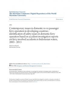 The Maritime Commons: Digital Repository of the World Maritime University. World Maritime University Dissertations