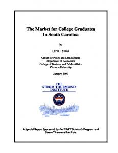 The Market for College Graduates In South Carolina