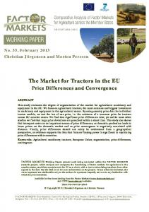 The Market for Tractors in the EU