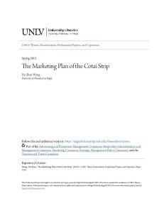 The Marketing Plan of the Cotai Strip