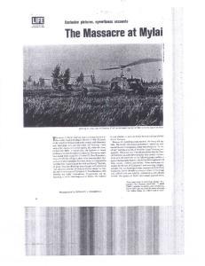 The Massacre at Mylai