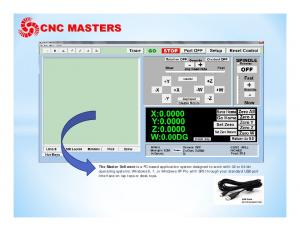 The Master Software is a PC based application system designed to work with 32 or 64 bit operating systems: Windows 8, 7, or Windows XP Pro with SP3