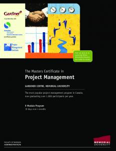 The Masters Certificate in Project Management