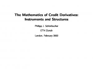 The Mathematics of Credit Derivatives: Instruments and Structures