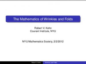 The Mathematics of Wrinkles and Folds