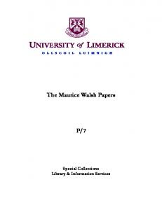 The Maurice Walsh Papers