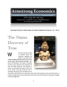 The Mayan Discovery of Time