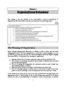 The Meaning of Organization