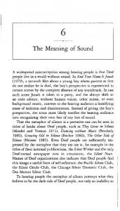 The Meaning of Sound