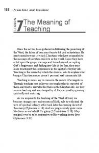 The Meaning of Teaching