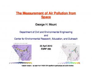 The Measurement of Air Pollution from Space