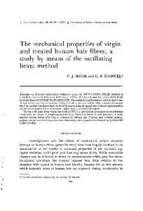 The mechanical properties of virgin