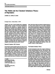 The Media and the Chemical Imbalance Theory of Depression