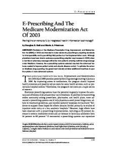The medicare prescription drug, Improvement, and Modernization