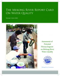 The Mekong River Report Card On Water Quality