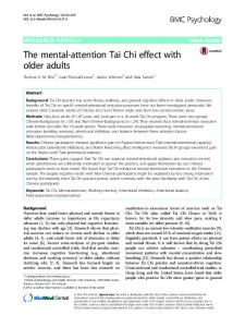 The mental-attention Tai Chi effect with older adults