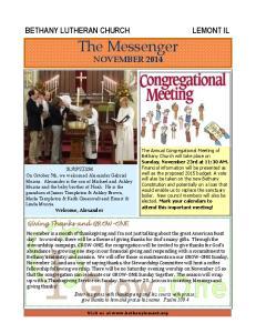 The Messenger NOVEMBER 2014
