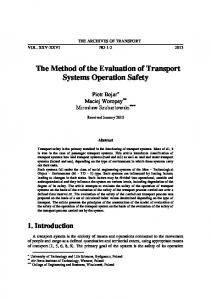 The Method of the Evaluation of Transport Systems Operation Safety