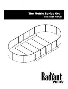 The Metric Series Oval. Installation Manual