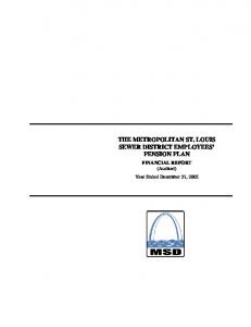THE METROPOLITAN ST. LOUIS SEWER DISTRICT EMPLOYEES PENSION PLAN
