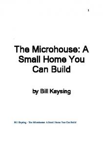 The Microhouse: A Small Home You Can Build