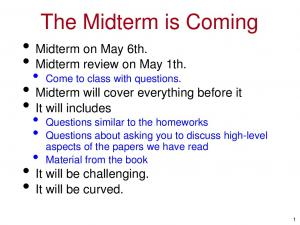 The Midterm is Coming