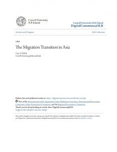 The Migration Transition in Asia