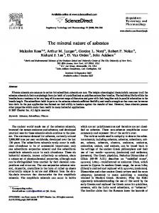 The mineral nature of asbestos