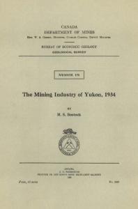 The Mining Industry of Yukon, 1934