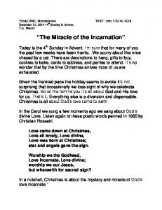 The Miracle of the Incarnation