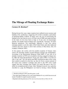 The Mirage of Floating Exchange Rates