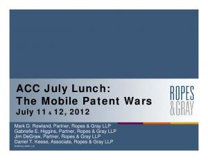 The Mobile Patent Wars
